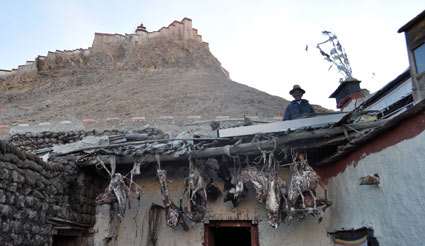 Inside a Tibetan's house in oldtown Gyantse
