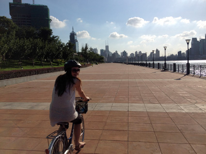 There are still a few places in Shanghai where you can get the bike track all to yourself