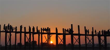 Sunset at Amarapura, just out of Mandalay
