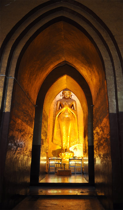 Inside the temples in Bagan